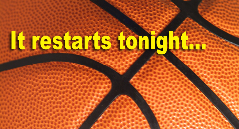 Basketball restart