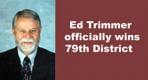 Ed Trimmer officially wins