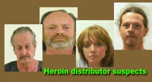 Heroin distributor suspects