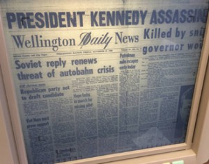 This was a microfilm copy of the Wellington Daily News on Nov. 22, 1964.