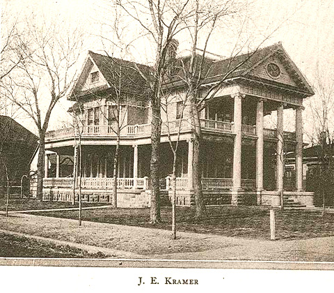 The house at 224 South F was originally built in 1900 by J.E. Kramer, who was the President of Farmers State Bank in Wellington.