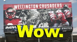 Crusader football mural feature
