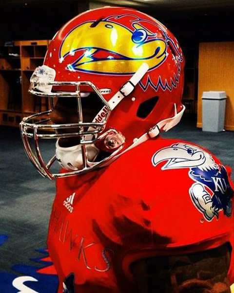 KU's new football uniform