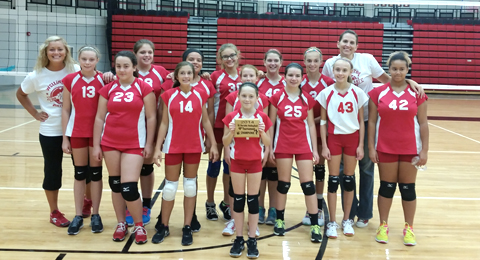 "Wellington 7th Grade ""B"" volleyball team."