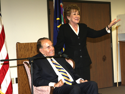 Bob and Elizabeth Dole were on hand to meet with well-wishers and old political friends Friday in Wellington.