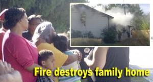 Fire destroys home feature
