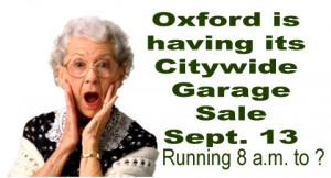 Oxford garage sale story