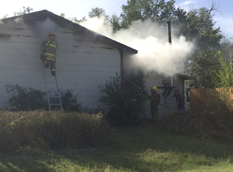 House fire at 2223 E. Lincoln Ave.