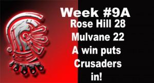 Crusaders Week 9A game