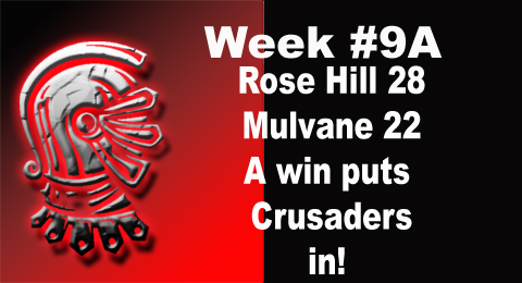 Crusaders Week 9A game