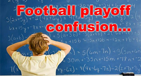 Football playoff confusion
