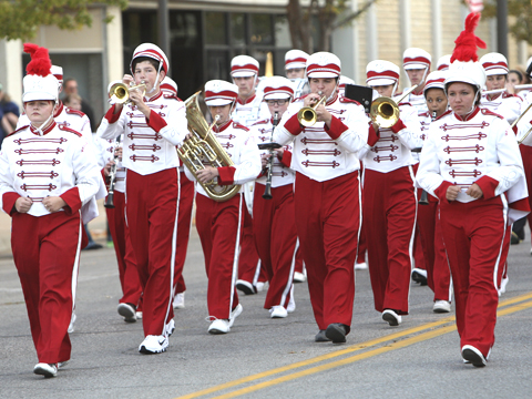 The WHS band will be marching tonight.