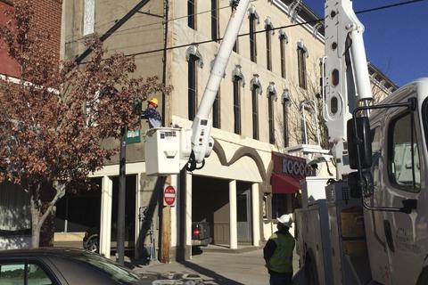 City Crews were on Harvey Street this weekend.