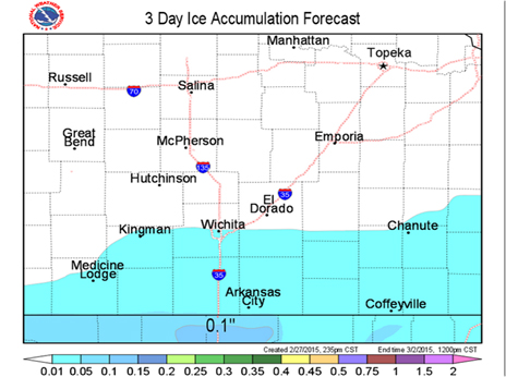 3-day ice accumulation