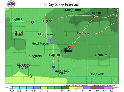 3-day snow forecast