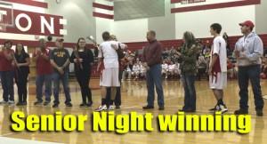 Senior night winning