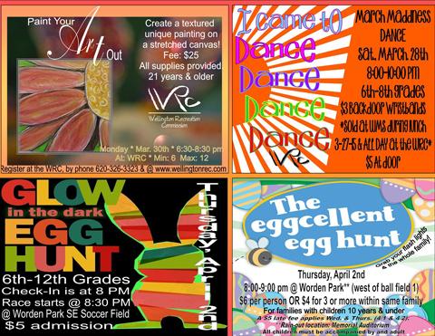 Rec Rap Easter events