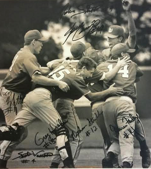 1995 Wellington High School baseball team and Class 4A State Champions.