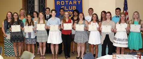 WHS Rotary Senior award winners