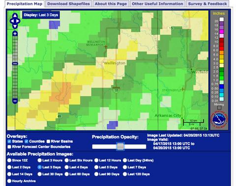 precipitation table 4-20-15