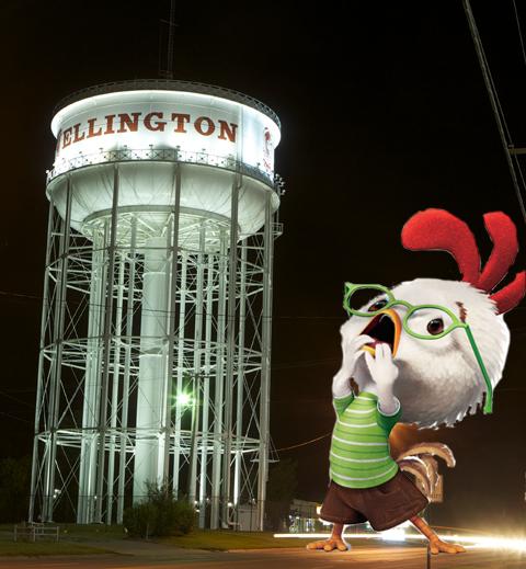 Chicken Little Wellington water tower