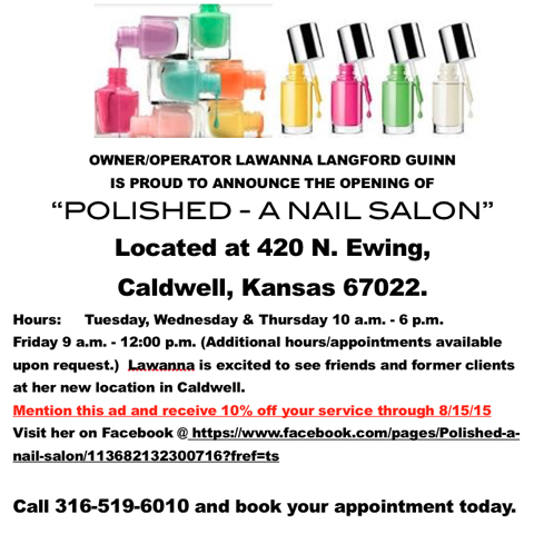 Opening of polished a nail salon in caldwell sumner for 24 hour nail salon new york