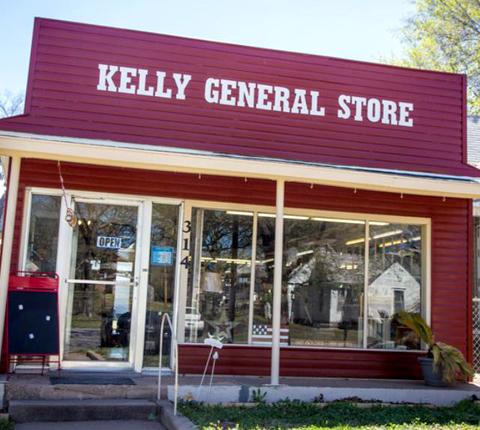 Kelly General Store at 314 E. Harvey.