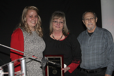 Susan's Photography is presented business of year award.