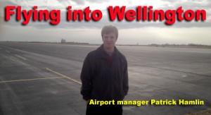 Wellington Airport Patrick Hamlin flying