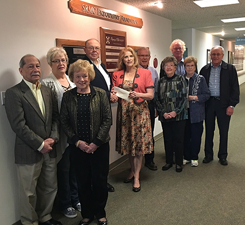 Members of the Sumner Regional Medical Center Endowment learn of sizable donation.