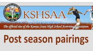 KSHSAA post season pairings
