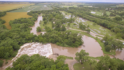 Water near Oxford this morning. (Photo by Samson Ledesma.)