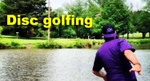 Disc golfing feature