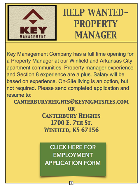 Help wanted Key Property