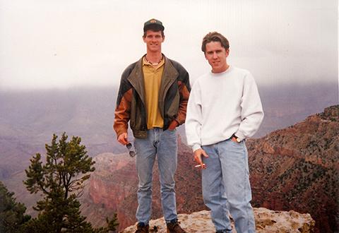 Jeff and Jason hiking