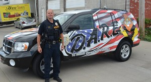 Jim Yunker with DARE vehicle