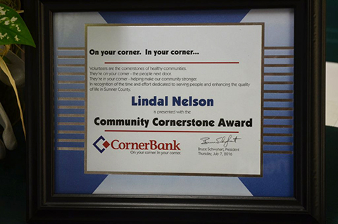 Sunday Feature Lindal Nelson Volunteerism Recognized With Community Cornerstone Award Sumner