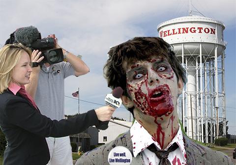 Zombie being interviewed in Wellington