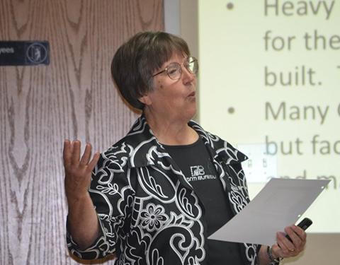 Helen Norris of Sumner County Farm Bureau.