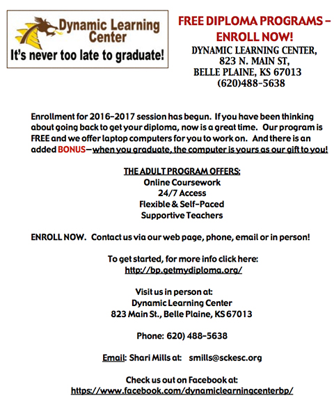 Belle Plaine Dynamic Center news copy
