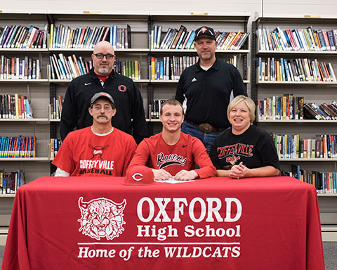 Oxford Grant with parents & Coach