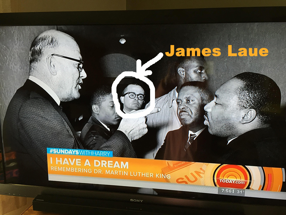 James Laue is shown in this picture in the background. Not sure the details of this picture but it was recently featured on the Today Show. Sally Lebeda of Caldwell made a screen shot photo.