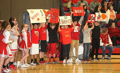 A large Wellington fan base was on hand to cheer on the Knights.