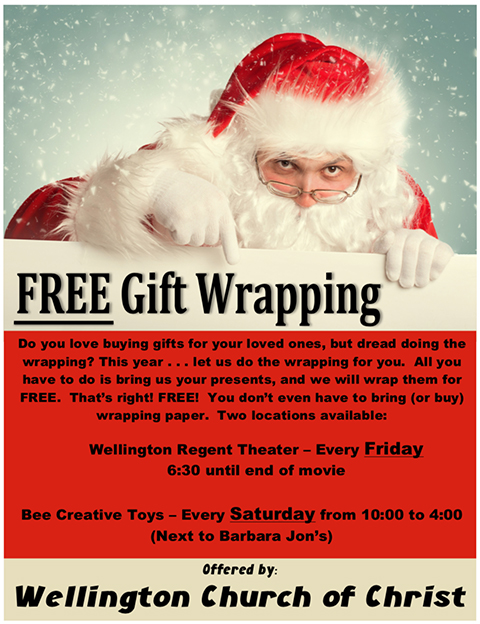 Free gift wrapping offered by wellington church of christ sumner free gift wrapping offered by wellington church of christ negle Gallery