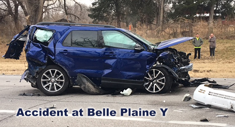 Three Vehicle Accident At Belle Plaine Y Results In