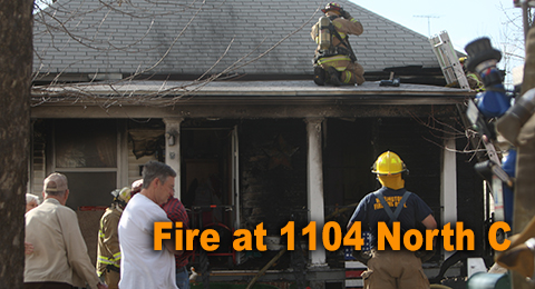 Saturday's fire at 1104 North C Street was caused by